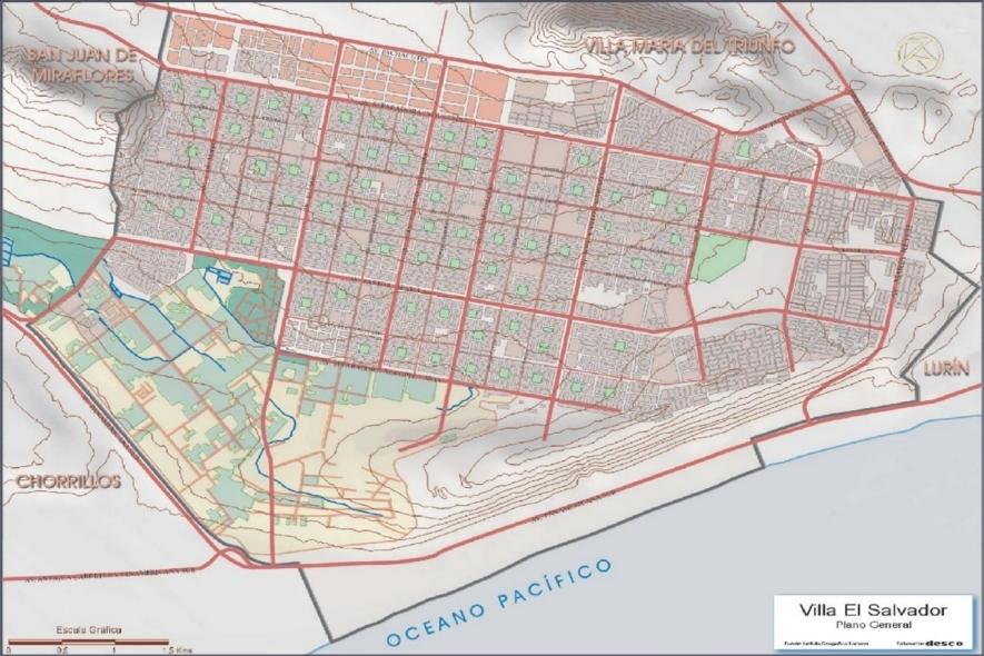 Plano oficial de Villa El Salvador (1,5MB)